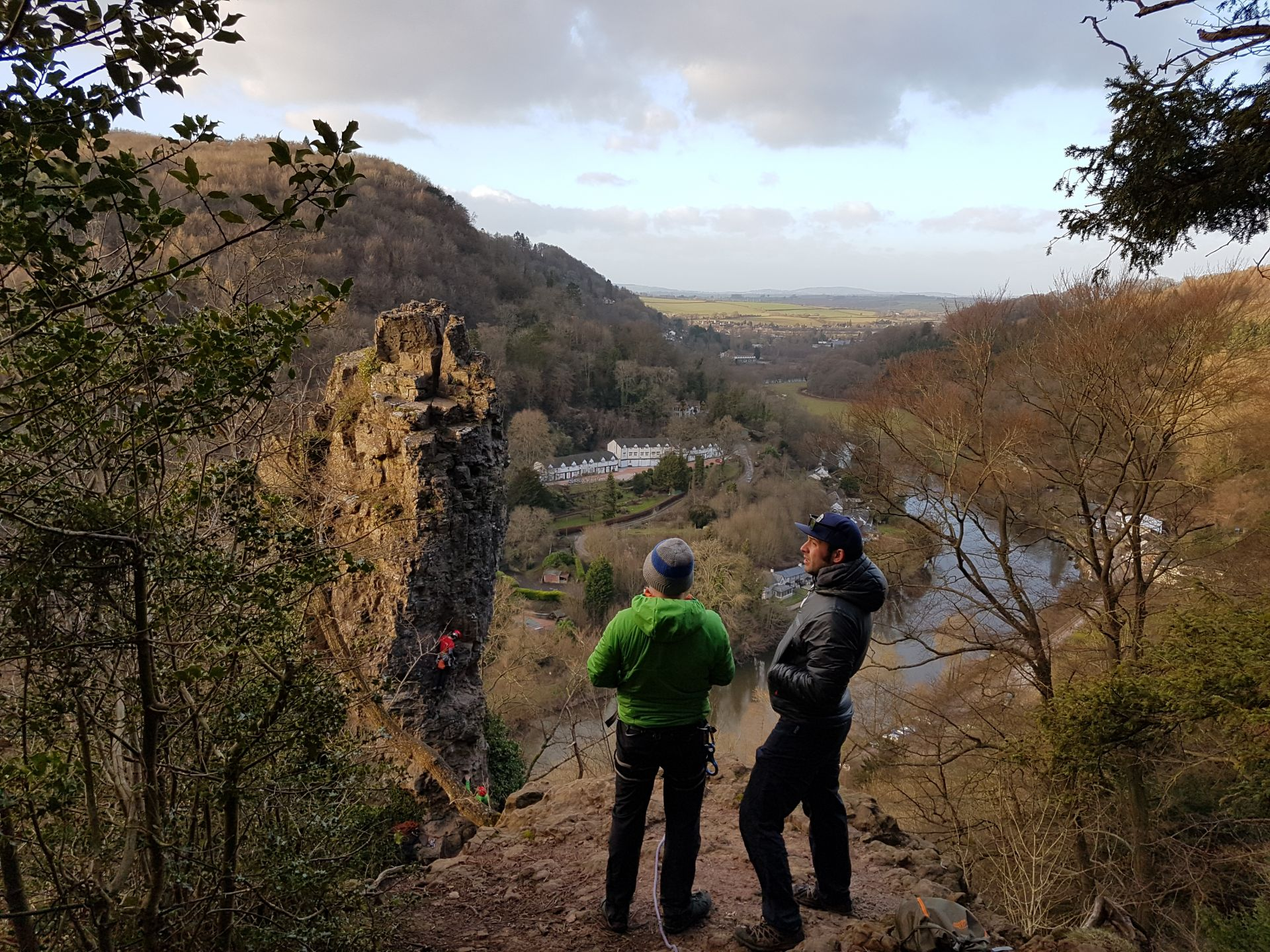 Climbing on The Pinnacle at Symonds Yat