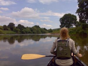 On the river at Hoarwithy