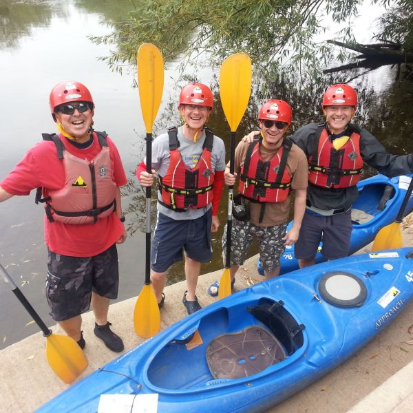 A self guided kayak hire group